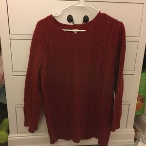 Jcrew Red Sweater